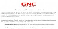 GNC responds to industry questions about its NY AG deal with open letter from CEO