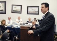 Jason E. Chaffetz, US Representative for Utah's 3rd congressional district, addressed the delegation. Photo credit: CRN